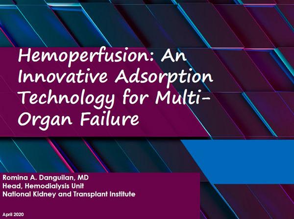28 апреля 2020 года прошла веб-конференция на тему: «Применение экстракорпоральной терапии (гемоперфузии) для улучшения функционального состояния у тяжелобольных пациентов с COVID-19 в отделениях реанимации и интенсивной терапии»
