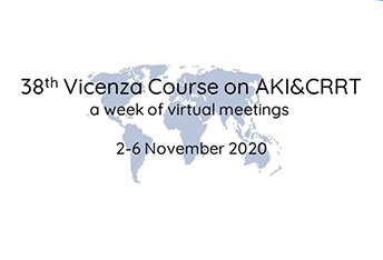 The 38th Vicenza Course on AKI & CRRT. A week of virtual meetings