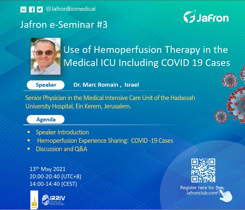 Анонс. E-Seminar №3 «Use of Hemoperfusion Therapy in Medical ICU Including COVID-19 Cases»