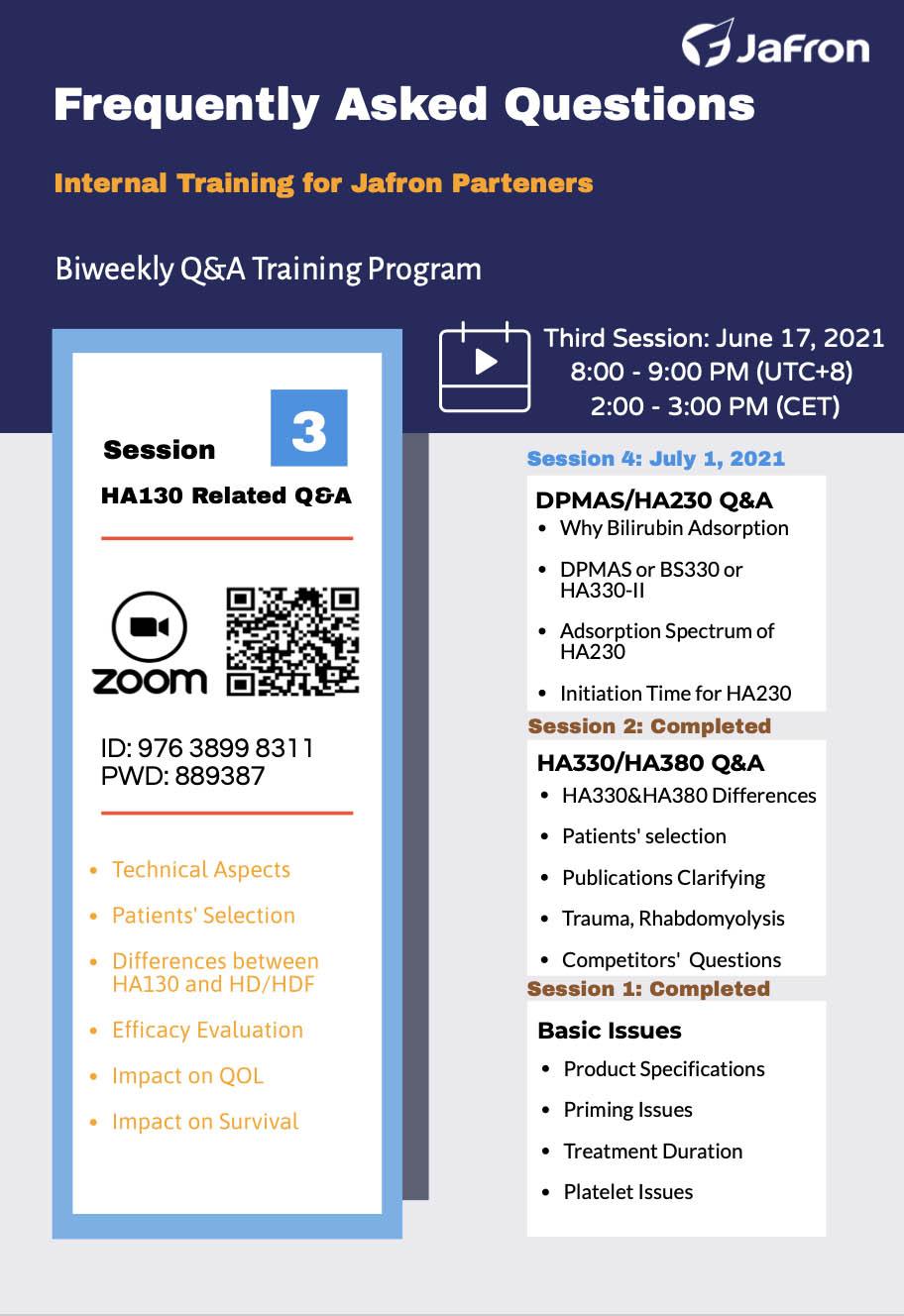 Анонс. Internal Training for Jafron Partners. Third session