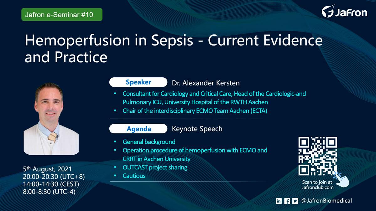 Анонс. E-Seminar №10 «Hemoperfusion in Sepsis»