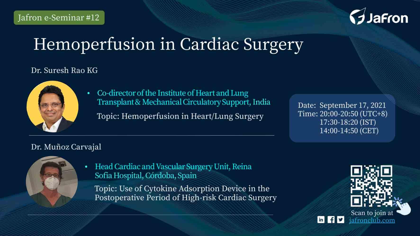 Анонс. E-Seminar №12 «Hemoperfusion in Cardiac Surgery»