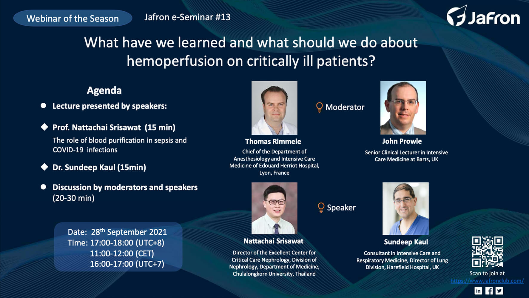 Анонс. E-Seminar №13 «What have we learned and what should we do about hemoperfusion on critically ill patients?»